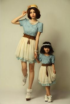 matching dresses so cute