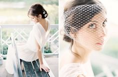birdcage veil from Hushed Commotion