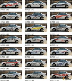 what a big list of car sticker