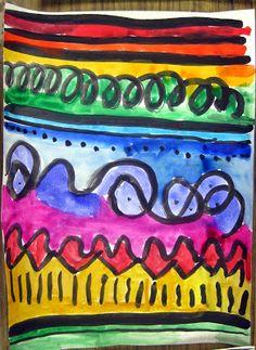 kindergarten paintings