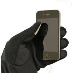 I always said they should make touchscreen gloves...and they do! touchscreen glove