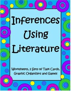Inferences Using Literature is a 61 page set by The Teacher Next Door that is loaded with everything you need to teach this very foundational reading strategy and includes student passages (Aesop's Fables, a Greek Myth and folktales from around the world), two sets of task cards, a game, activities and graphic organizers. This unit is Common Core based and targeted to cover RL 3.1, 4.1, and 5.1. $