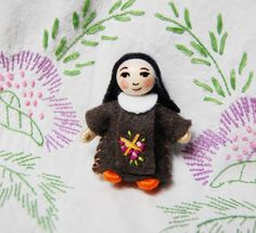 Saint Therese of Lisieux Miniature Doll 2 inches.