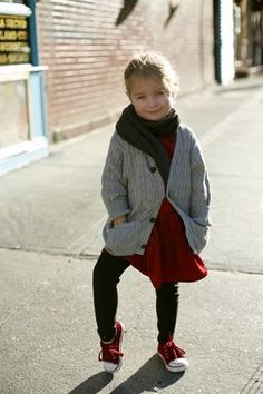 Love this winter outfit for a little girl, would be cute for school