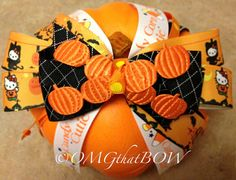 Hello Kitty Halloween Boutique BowOver the top by OMGthatBOW, $15.00
