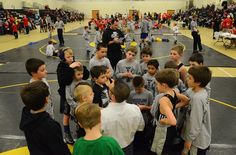 Young wrestlers came out Friday night at Moorestown High School to participate in a charity 10-team dual wrestling tournament fundraiser in memory of seven year old Sean Fischel who battled a rare blood disease while at the Children's Hospital of Philadelphia.