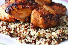 BBQ Pineapple chicken (Pineapple yogurt and BBQ sauce)