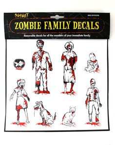 Zombie decals, way better than stick figures.