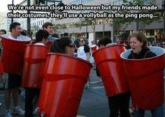 Beer Pong | 25 Clever Halloween Costumes To Wear As A Group