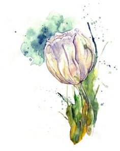 evoc art, art watercolor, acuarela, ami holliday, watercolor flower