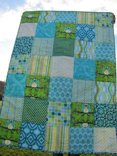 Great kids' camp quilt - using layer cake?