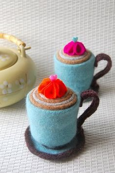 Teacup Pincushion Patterns and Tutorials