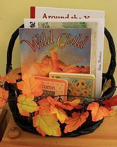 love the seasonal book basket!