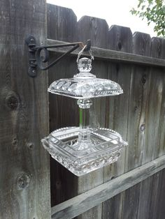 Glass bird feeder Hey, I found this really awesome Etsy listing at http://www.etsy.com/listing/165021176/clear-glass-hanging-bird-feeder