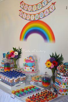 rainbow party Rainbow party birthday cake kids boys girl