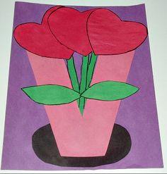 Valentine's Day Flowers Craft from Kiboomu