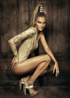 leahcultice:  Caroline Trentini for Morena Rosa Shoes SS 2013