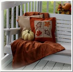 Fall decor for the front porch