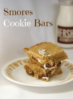 Smores Cookie Bars #smores #chocolate #marshmallows #cookies #bars #recipe #dessert #summer