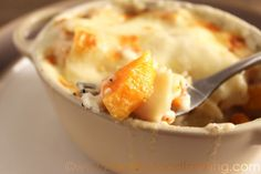 Individual Butternut Squash Lasagna with Goat Cheese Sauce