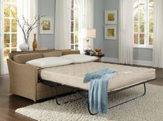 """Small Sleeper Sofa - Timothy Pull Out Sofa Bed - Available in Full and Queen Mattress.  Fits through any opening of 16"""" or larger!"""
