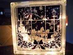 Lighted Box with Kim Bright's design Dashing through the Snow