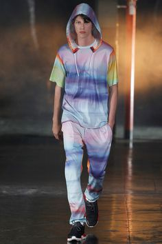 """SPRING 2014 READY-TO-WEAR Y-3 /  Yohji Yamamoto is sick of fast fashion. Or """"groupie fashion,"""" as he calls it. """"They all look the same,"""" he said  in a downtown hotel lounge just hours before his Spring Y-3 show. Y-3, the designer's long-running collaboration with Adidas, is supposed to be an antidote to fast fashion's proliferation. """"It's based on a sporty elegance,"""" he said. """"It can easily be mixed with pieces from my main line."""""""