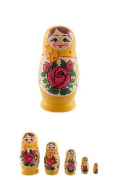 Bright, cheerful, super cute Russian nesting dolls. #Russian #nesting #dolls #matryoshka #Russia