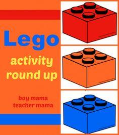 Lego Activities Round Up from Boy Mama Teacher Mama lego round, legoroundupimagejpg 8831000, school linki, lego math, legos, lego activities