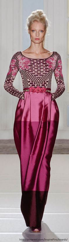 Temperley London at London Fashion Week Spring 2014 - LOVE the skirt