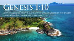 Bible Verses Genesis 1:10 GOD Made Earth And Sea Wallpaper