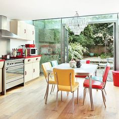 Ideias de decoração para uma cozinha retrô