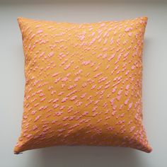 Now available from my shop - Screenprinted cushion - Pink Shadow