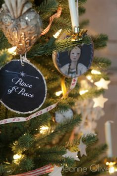 Black board ornaments