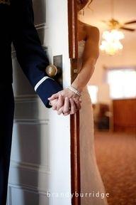 praying before the wedding!
