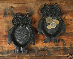 Vintage Style Cast Iron Owl Dish