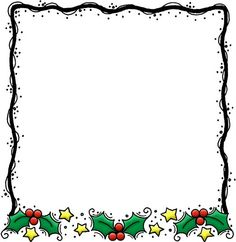 Word Clipart Christmas Borders