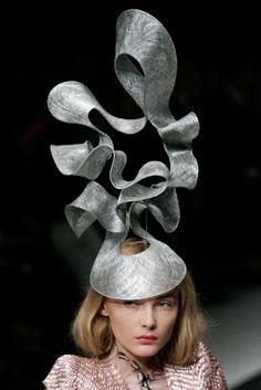 The beauty of millinery.  Philip Treacy hat