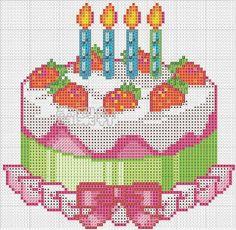 Вышивка ко дню рождения схема 884