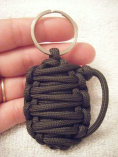 Paracord Granade Keychain OD Green by Fundraising4ferrets on Etsy