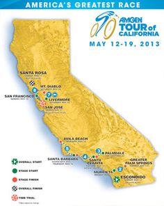 AMGEN Tour of California Bike Race   May 12-19, 2013