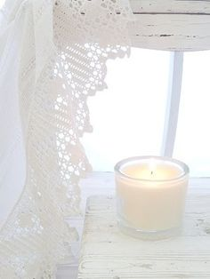 white living, mint green, white style, white lights, candles