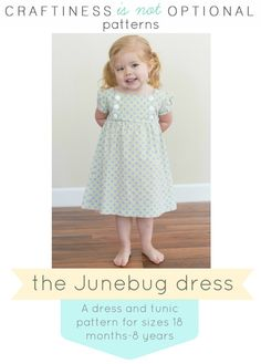 Junebug Dress and Tunic PDF pattern by CINOshop on Etsy