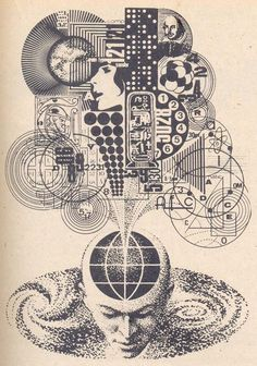 More...'cause it's so good....Illustration from the science magazine Galaksija (70;s and 80's) by Russian artist Nikolai Lutohin.