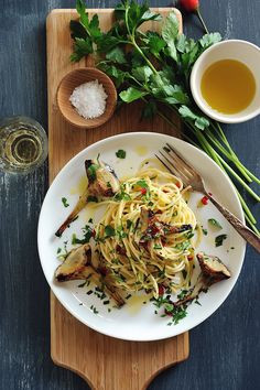 // spaghetti with chili and artichokes   # Pin++ for Pinterest #