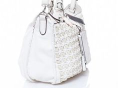 Woven Lace Tote via Poplooks