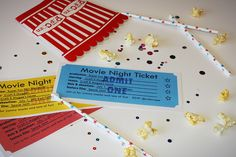 Movie Night Ticket party invitation (Free Printable!!!) from www.craftemagee.com