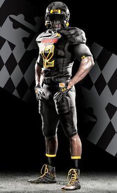 """University of Maryland """"Black Ops"""" Uniform  #maryland #umd #crabcakesandfootball  visitmaryland.org"""