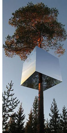 Stay in an (almost) invisible treehouse in the back woods of Sweden.