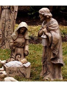 Mary, Joseph and Baby Jesus Large Nativity Trio - nearly life-sized!